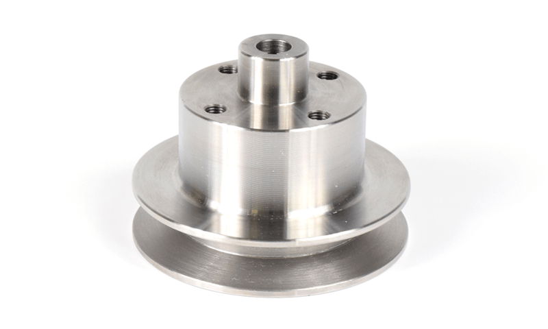 Aluminum 4 inch Dia under Drive Water Pump Pulley 1/2